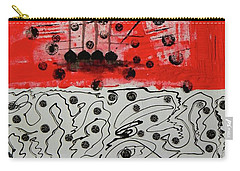 Carry-all Pouch featuring the painting Stranded In The Wrong Time by Everette McMahan jr