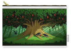 Carry-all Pouch featuring the digital art Strange Fruit by Scott Ross