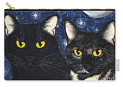 Strangeling's Felines - Black Cat Tortie Cat Carry-all Pouch