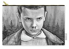 Stranger Things Fan Art Eleven Carry-all Pouch by Olga Shvartsur
