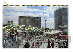 Carry-all Pouch featuring the photograph Stratford Bus Station - London by Mudiama Kammoh