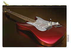 Stratocaster On A Golden Floor Carry-all Pouch