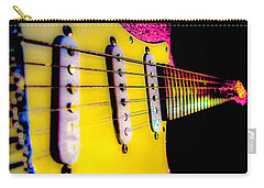 Stratocaster Pop Art Pink Fire Neck Series Carry-all Pouch