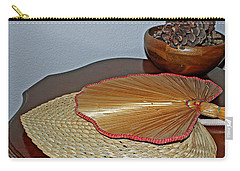 Carry-all Pouch featuring the photograph Straw Fans by Judy Vincent