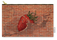 Strawberries And Cream Amazing Graffiti Carry-all Pouch