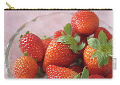 Strawberries Carry-all Pouch by Rachel Mirror