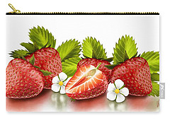 Strawberries Carry-all Pouch by Veronica Minozzi