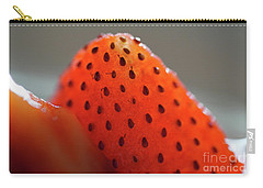 Strawberry Close Up Carry-all Pouch