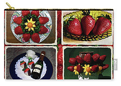 Carry-all Pouch featuring the photograph Strawberry Collage by Sally Weigand