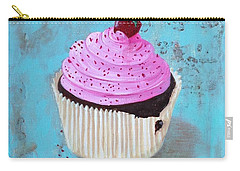 Strawberry Delight Carry-all Pouch by T Fry-Green