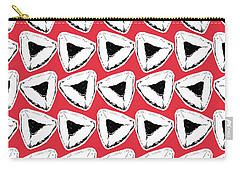 Carry-all Pouch featuring the mixed media Strawberry Hamentashen- Art By Linda Woods by Linda Woods