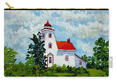 Strawberry Island Lighthouse, Manitoulin Island Carry-all Pouch