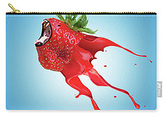 Carry-all Pouch featuring the photograph Strawberry by Juli Scalzi