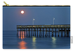 Strawberry Moon Over Sandbridge Carry-all Pouch
