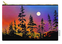 Carry-all Pouch featuring the painting Strawberry Moon Sunset by Hanne Lore Koehler