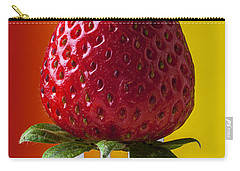 Strawberry On Fork Carry-all Pouch by Garry Gay