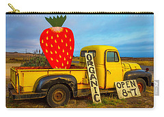Strawberry Sign In Pickup Truck Carry-all Pouch by Garry Gay