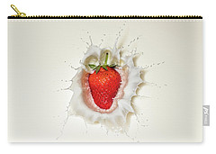 Strawberry Splash In Milk Carry-all Pouch