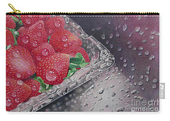 Strawberry Splash Carry-all Pouch by Pamela Clements