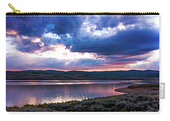 Carry-all Pouch featuring the photograph Strawberry Sunset by Bryan Carter