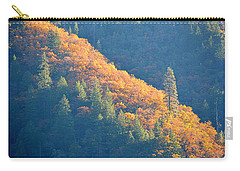 Carry-all Pouch featuring the photograph Streak Of Gold by AJ Schibig