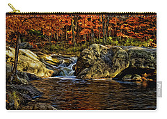 Stream In Autumn 57 In Oil Carry-all Pouch by Mark Myhaver
