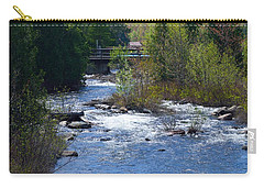 Stream In Spring Carry-all Pouch by David Porteus