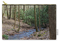 Stream In The Winter Woods Carry-all Pouch