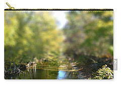 Carry-all Pouch featuring the photograph Stream Reflections by EricaMaxine  Price