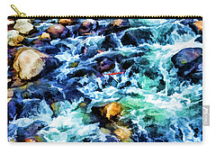 Streaming Rapids Carry-all Pouch by Nancy Marie Ricketts