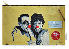 Street Art In The Trastevere Neighborhood In Rome Italy Carry-all Pouch