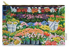 Street Flower Stand Carry-all Pouch by Alexandra Maria Ethlyn Cheshire