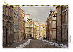 Carry-all Pouch featuring the photograph Street In Warsaw, Poland by Juli Scalzi