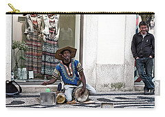 Carry-all Pouch featuring the photograph Street Music, Lisboa by Lorraine Devon Wilke