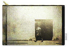 Street Photography - Closed Door Carry-all Pouch by Siegfried Ferlin