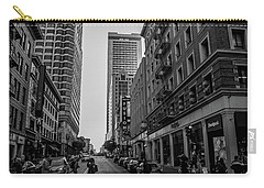 Carry-all Pouch featuring the photograph Street Scene, Nyc by Lora Lee Chapman
