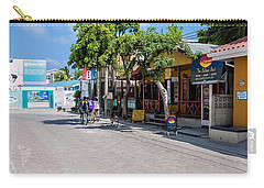 Street Scene Of San Pedro Carry-all Pouch by Lawrence Burry