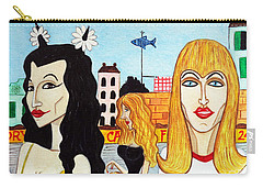 Street Scene With Sue Looking At You Carry-all Pouch