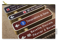 Street Sign In Avignon Carry-all Pouch