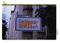 Street Sign With Graffiti Carry-all Pouch