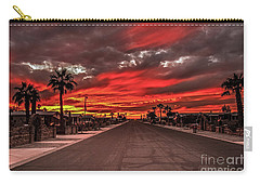 Carry-all Pouch featuring the photograph Street Sunset by Robert Bales