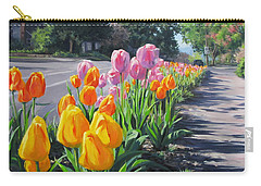 Street Tulips Carry-all Pouch by Karen Ilari