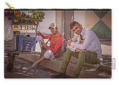 Carry-all Pouch featuring the photograph Street Vendors In Cienfuegos Cuba by Joan Carroll