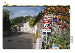 Carry-all Pouch featuring the photograph Street View Of Giverny by Therese Alcorn