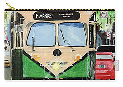 Carry-all Pouch featuring the painting Streetcar Not Named Desire by Tom Riggs