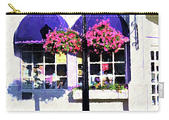 Carry-all Pouch featuring the painting Streetside Balcony by Desiree Paquette