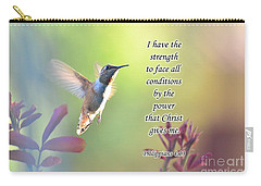 Strength Through Christ Carry-all Pouch by Debby Pueschel