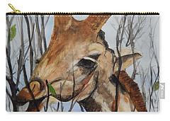 Carry-all Pouch featuring the painting Stretch by Betty-Anne McDonald