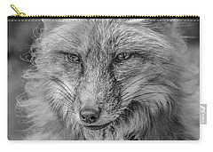 Striking A Pose Black And White Carry-all Pouch