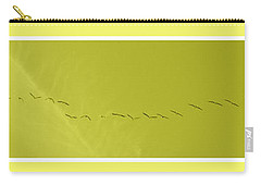 String Of Birds In Yellow Carry-all Pouch